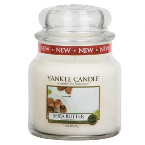 yankee candle shea butter housewarmer medium glas